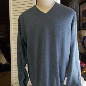 Banana Republic Fine Merino Wool Blue Sweater